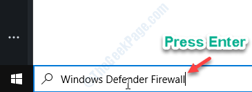 Firewall de Windows Defender Entrar