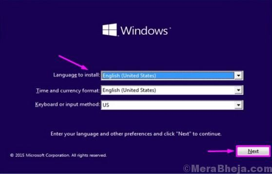 Lingua di installazione di Windows 1 1 1